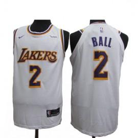 Camiseta Lonzo Ball #2 Los Angeles Lakers 18/19 Blanco Association Edition