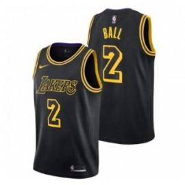 Camiseta Lonzo Ball #2 Los Angeles Lakers 18/19 Negro City Edition