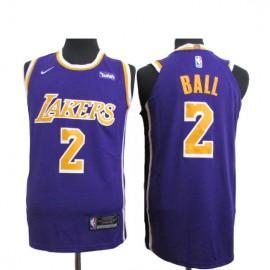 Camiseta Lonzo Ball #2 Los Angeles Lakers 18/19 Púrpura Statement Edition