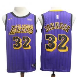 Camiseta Magic Johnson #32 Los Angeles Lakers 18/19 Púrpura City Edition