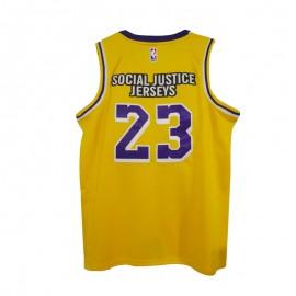 Camiseta #23 Los Angeles Lakers Amarillo Rematch Slogan Versión