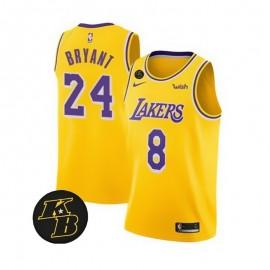 Camiseta Kobe Bryant #8/#24 Los Angeles Lakers Amarillo