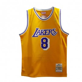 Camiseta Kobe Bryant #8 Los Angeles Lakers Amarillo Honor Edition