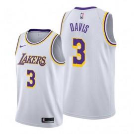 Camiseta Anthony Davis #3 Los Angeles Lakers 19/20 Blanco Association Edition