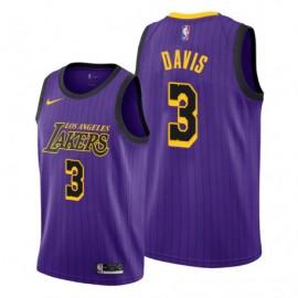 Camiseta Anthony Davis #3 Los Angeles Lakers 19/20 Púrpura City Edition