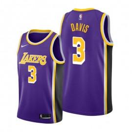 Camiseta Anthony Davis #3 Los Angeles Lakers 19/20 Púrpura Statement Edition