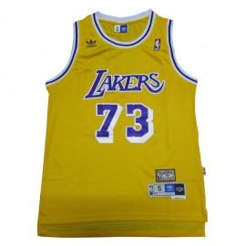 Camiseta Dennis Rodman #73 Los Angeles Lakers Armarillo Icon Edition