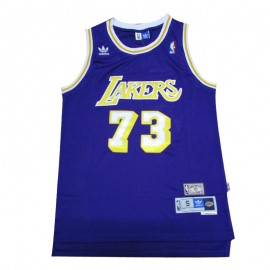 Camiseta Dennis Rodman #73 Los Angeles Lakers Púrpura Icon Edition