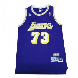 Camiseta Dennis Rodman #73 Los Angeles Lakers Púrpura Icon Edition