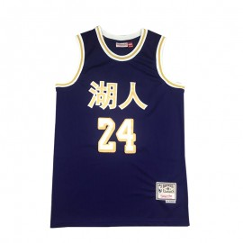 Camiseta Kobe Bryant #24 Los Angeles Lakers Púrpura Chinese Edition