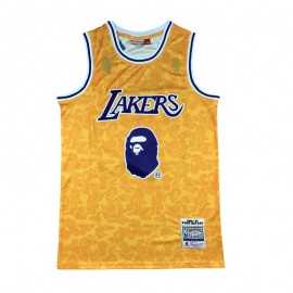 Camiseta Kobe Bryant #24 Los Angeles Lakers Amarillo BAPE Edition