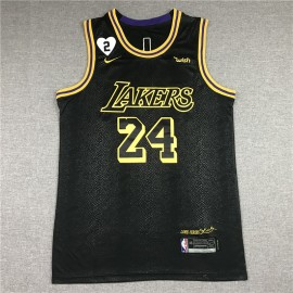 Camiseta Kobe Bryant #24 Los Angeles Lakers Negro
