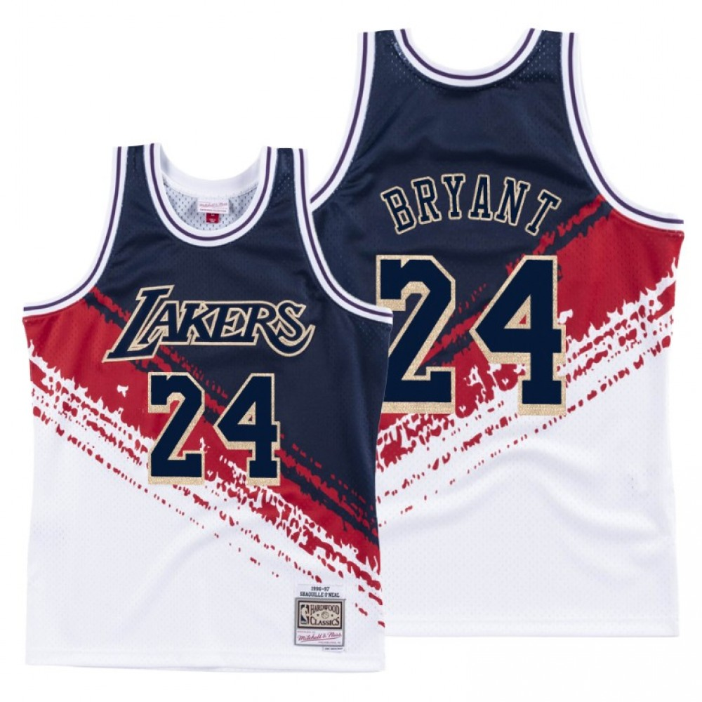 Camiseta Kobe Bryant #24 Los Angeles Lakers Blanco Independence Day Edition