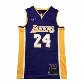 Camiseta Kobe Bryant #24 Los Angeles Lakers Púrpura Retirada Edition