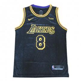 Camiseta Kobe Bryant #8/#24 Los Angeles Lakers Negro City Edition
