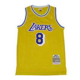 Camiseta Kobe Bryant #8 Los Angeles Lakers Amarillo Icon Edition