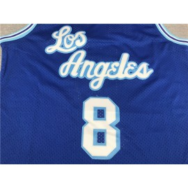 Camiseta Kobe Bryant #8 Los Angeles Lakers Azul
