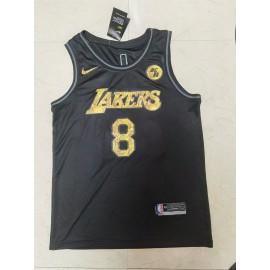 Camiseta Kobe Bryant #8 Los Angeles Lakers Negro Retirada Edition