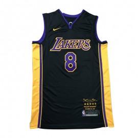 Camiseta Kobe Bryant #8 Los Angeles Lakers Negro/Amarillo Retirada Edition