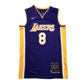 Camiseta Kobe Bryant #8 Los Angeles Lakers Púrpura Retirada Edition