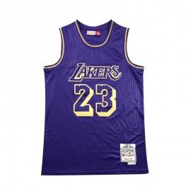Camiseta LeBron James #23 Los Angeles Lakers Púrpura Mouse Limited Edition