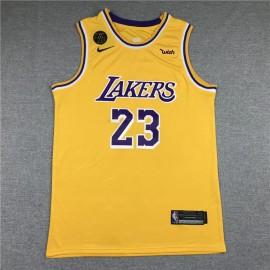 Camiseta LeBron James #23 Los Angeles Lakers Amarillo
