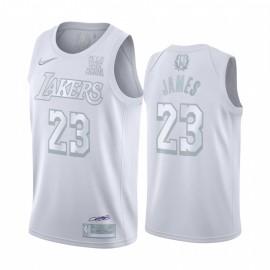 Camiseta LeBron James #23 Los Angeles Lakers Blanco MVP Edition