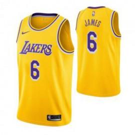 Camiseta LeBron James #6 Los Angeles Lakers 19/20 Amarillo Icon Edition