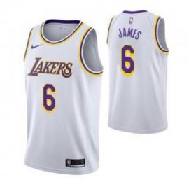 Camiseta LeBron James #6 Los Angeles Lakers 19/20 Blanco Association Edition