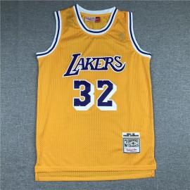 Camiseta Magic Johnson #32 Los Angeles Lakers Amarillo