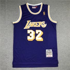 Camiseta Magic Johnson #32 Los Angeles Lakers Púrpura