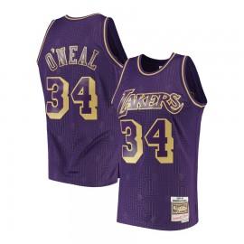 Camiseta Shaquille O'Neal #34 Los Angeles Lakers Púrpura Limited Edition