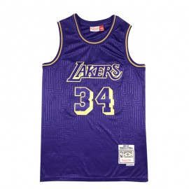Camiseta Shaquille O'Neal #34 Los Angeles Lakers Púrpura Mouse Limited Edition