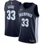 Camiseta Marc Gasol #33 Memphis Grizzlies 18/19 Azul Marino Icon Edition