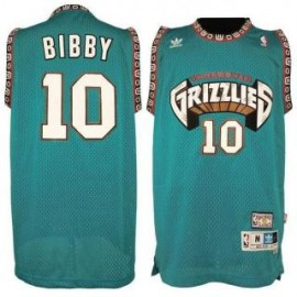 Camiseta Mike Bibby #10 Memphis Grizzlies Verde Classic