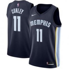 Camiseta Mike Conley Jr. #11 Memphis Grizzlies 18/19 Azul Marino Icon Edition