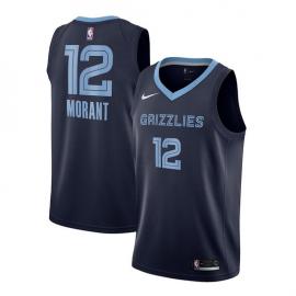 Camiseta Ja Morant #12 Memphis Grizzlies 19/20 Azul Marino