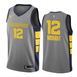 Camiseta Ja Morant #12 Memphis Grizzlies 19/20 Gris City Edition