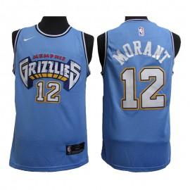 Camiseta Ja Morant #12 Memphis Grizzlies 20/21 Azul Claro City Edition