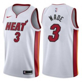 Camiseta Dwyane Wade #3 Miami Heat 17/18 Blanco Association