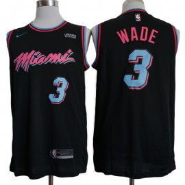Camiseta Dwyane Wade #3 Miami Heat 17/18 Negro City Edition