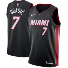 Camiseta Goran Dragić #7 Miami Heat 17/18 Negro Icon