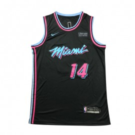 Camiseta Tyler Herro #14 Miami Heat 18/19 Negro City Edition