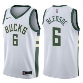Camiseta Eric Bledsoe #6 Milwaukee Bucks 17/18 Blanco Association