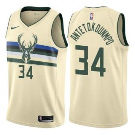 Camiseta Giannis Antetokounmpo #34 Milwaukee Bucks 18/19 Amarillo City Edition