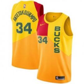 Camiseta Giannis Antetokounmpo #34 Milwaukee Bucks 18/19 Amarillo City Edition