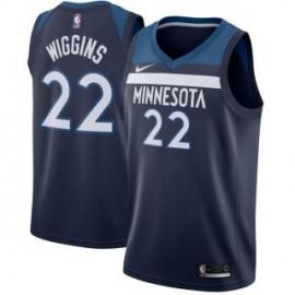 Camiseta Andrew Wiggins #22 Minnesota Timberwolves 17/18 Azul Marino Icon