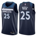 Camiseta Derrick Rose #25 Minnesota Timberwolves 17/18 Azul Marino Icon