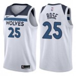 Camiseta Derrick Rose #25 Minnesota Timberwolves 17/18 Blanco Association