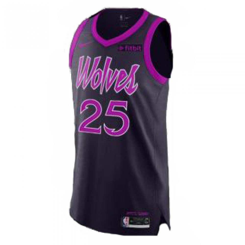 Camiseta Derrick Rose #25 Minnesota Timberwolves 18/19 Púrpura City Edition